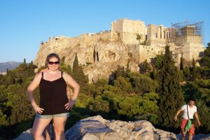 Me at the Acropolis in Athens